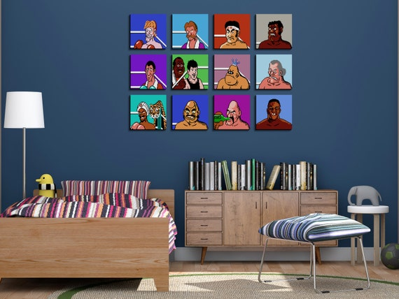 Nintendo Wall Art unique 80s throwback mike tysons punch out nintendo wall art