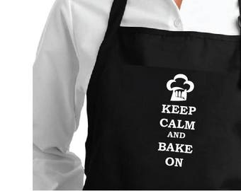 Apron Keep calm and bake on