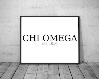 Printable CHI OMEGA est. 1895