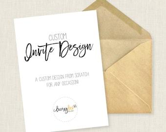 Printable Custom Invitation Design Service