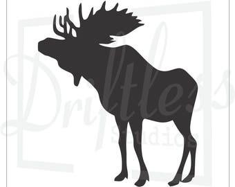 Moose Stencil 2, Moose Template, North Woods Stencil, Moose Decor