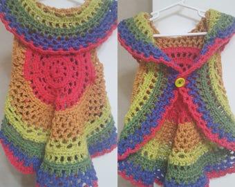 Rainbow Circle Vest 12-24 Months