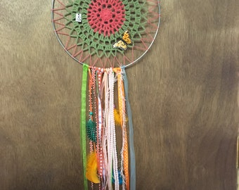 Orange Butterfly Dreamcatcher
