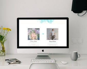 Website for wedding | with Photo Gallery | Invitation | for mobile devices | Wedding homepage