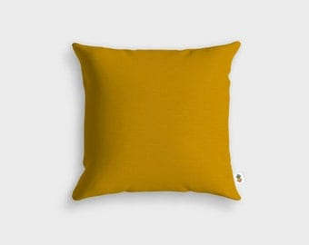 Cushion Basic MUSTARD - Made in France - 45 x 45 cm