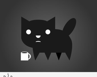 Coffee Cat Clipart