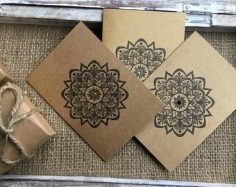 Ethnic flower pattern greetings card