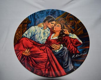 """Gone with the wind """"Scarlett and Rhett - THE FINALE"""" 1989 Plate number 170570 Exclusively made for Knowles"""