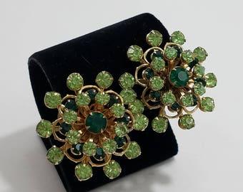 Simply Gorgeous Rhinestone Starburst Clip Earrings