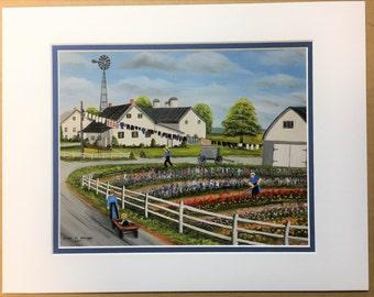 Sadie's Garden Oil Painting Print