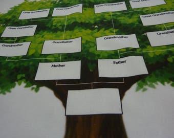 Family Tree -Family History - Genealogy - Family Tea Towel - Keepsake Tea Towel - Birthday Gift - Thank You Gift - Custom Tea Towel