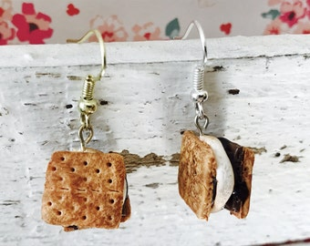 S'mores, Handmade Polymer Clay Miniature, Charm/Earrings/Necklace