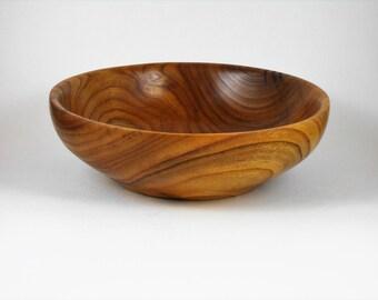 hand turned bowl of redbud wood