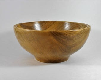 hand turned bowl of hackberry wood