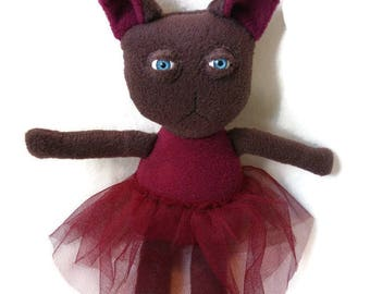 SALE Ballerina cat plush - toy cat, stuffed animal, soft plush toy cat.