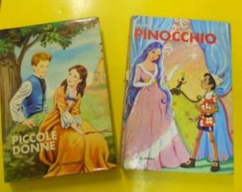 2 vintage children's books And little women 1969 + Pinocchio 1972. Malipiero