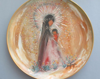 Madonna & Child Plate by Ted DeGrazia  1978 Limited Edition Southwest Design ~ FREE SHIPPING!  Beautiful Gift or Collectible Christmas Plate