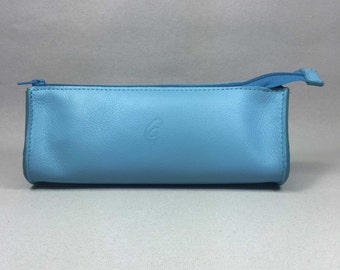 Package drop Turquoise leather
