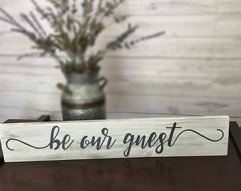 "30"" Be Our Guest with CUSTOMIZED Colors! Disney Inspired, for your guestroom"