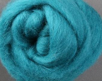 007- Teal Wool Roving