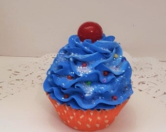 Candy Fake Cupcake Photo Props with Gumball on Top, Birthday Party Decorations, Picture Sessions, Candy Land Faux Cupcake