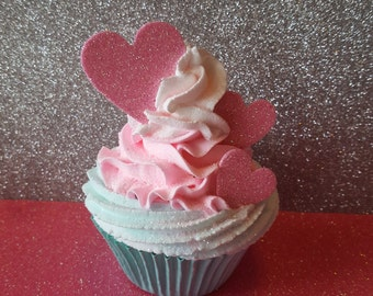Valentine Hearts Fake Cupcake Photo Props and Shabby Cottage Home Decor, Photo Props, Kitchen Cupcake Decorations