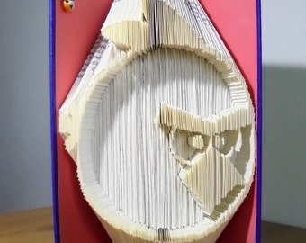Book Folding PATTERN for Angry Birds - Red