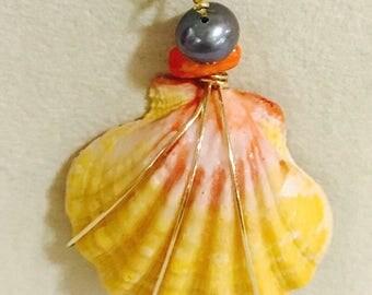 Sunrise shell necklace.