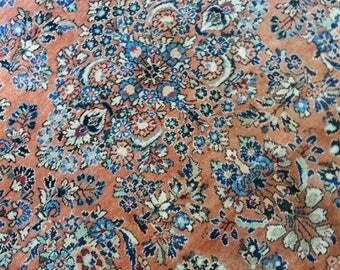Antique persian Sarouk carpet 8.11 × 8.10 ft 273 × 268 cm