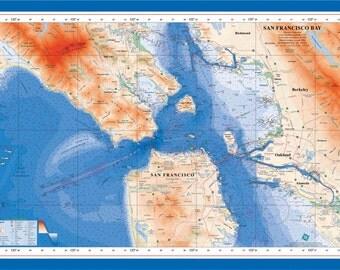 San Francisco Bay Poster (Laminated)