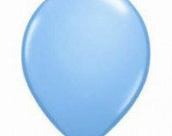 28cm Pale Blue Latex balloon