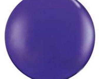 Jumbo  Round 90cm Balloon Purple