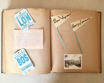 Vintage Travel Scrapbook - 1960's Europe - Ephemera