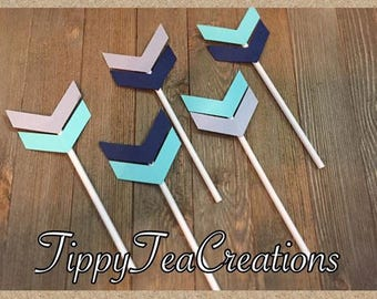 Tribal cupcake toppers-Tribal party toppers-Cupcake toppers-arrow cupcake toppers
