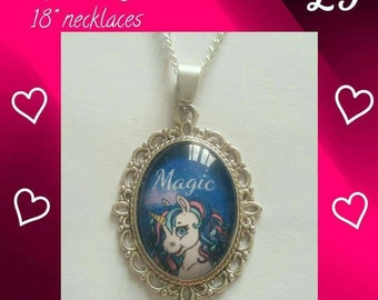 Night unicorn necklace