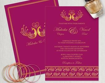 Hindu wedding invite etsy wedding invitation template indian wedding invitation diy editable indian wedding printable template instant stopboris Choice Image