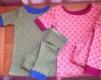 Organic Kids' Short Sleeve Long John Pajamas