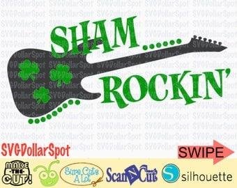 St Patrick's Day SVG - Sham Rockin SVG - Shamrockin - Cut File - Kids St Patricks Day