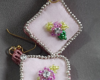 EMBROIDERED EARRINGS ITALIANSTYLE