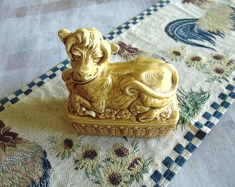 vintage sadler cow butter dish