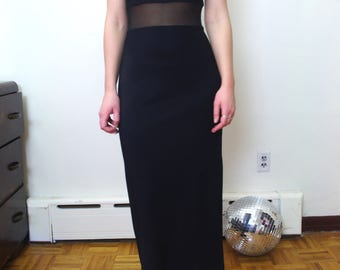 90's ALL THAT JAZZ sheer body column dress sz m/6