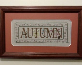 The Seasons - Autumn Spring Summer Winter Fiber Art Framed Art