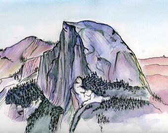 Yosemite Half Dome Wood Clipboard National Parks California
