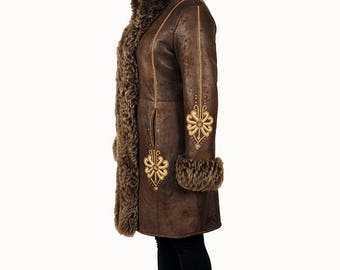 Ladies embroidered coat