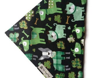 St. Patrick's Day Dog Bandana, St. Patty's Day Bandana, Puppy Bandana, Dog Bandanna, St. Patrick's Day Hankerchief, Over the Collar Bandana
