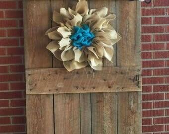 Burlap Flower Door Hanger- FREE SHIPPING!!