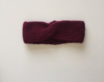 Headbands with small wool twist.