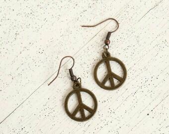 Peace earrings - tiny - small