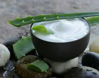 Whipped aloe butter hydrates skin for dry skin, acne, blemishes (lots of scent choices)