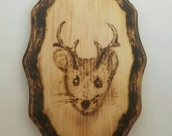 Mouse A Lope Pyrography